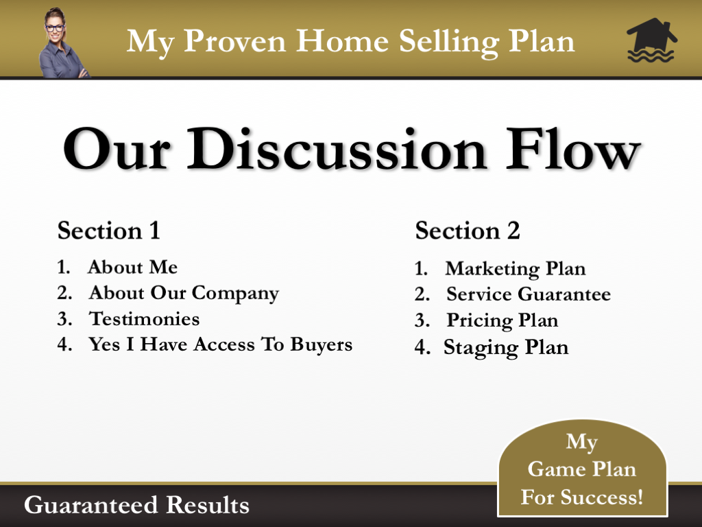 Our Discussion Flow Slide of the Black Gold Presentation Template