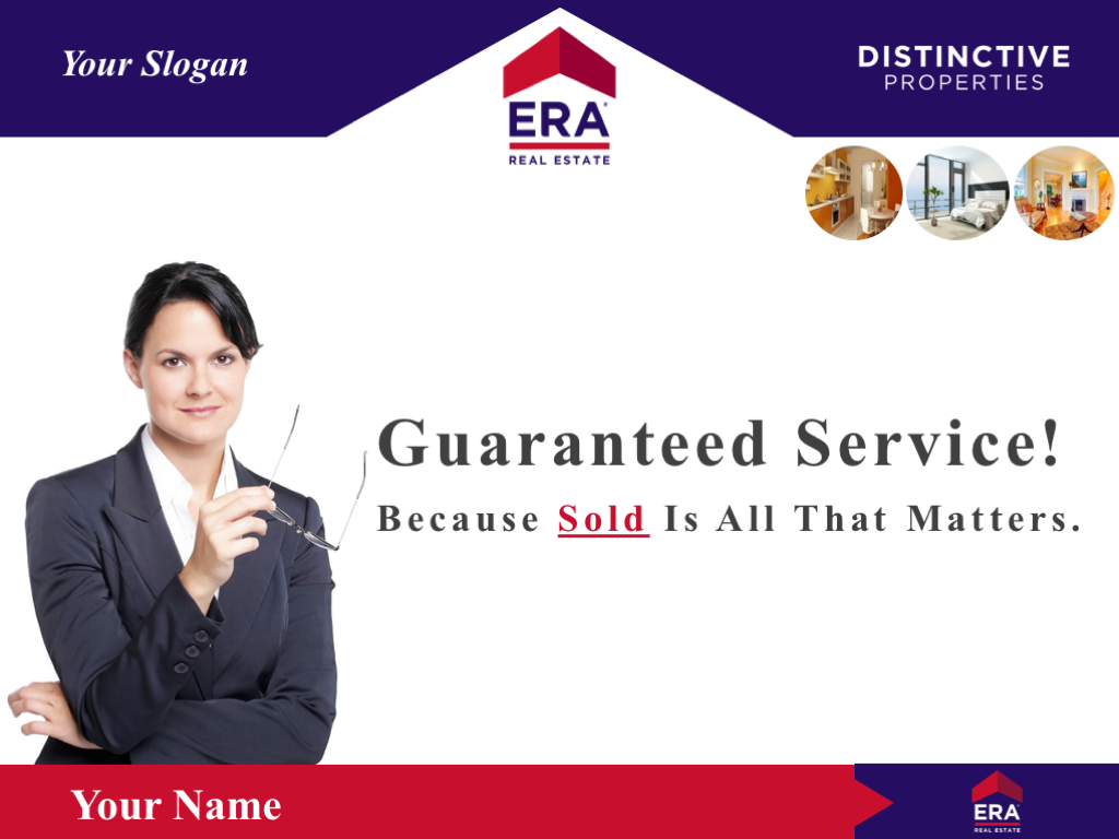 Cover Slide Example Of The Bonus ERA Real Estate Template