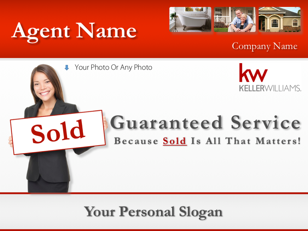 Keller Williams Design listing presentation for real estate agents