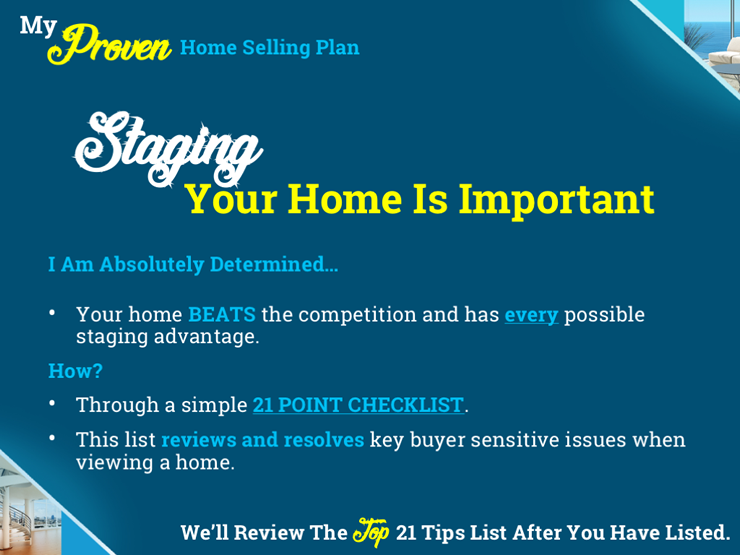 Marketing Plan Slide Example - Staging The Home Is Important For Buyers