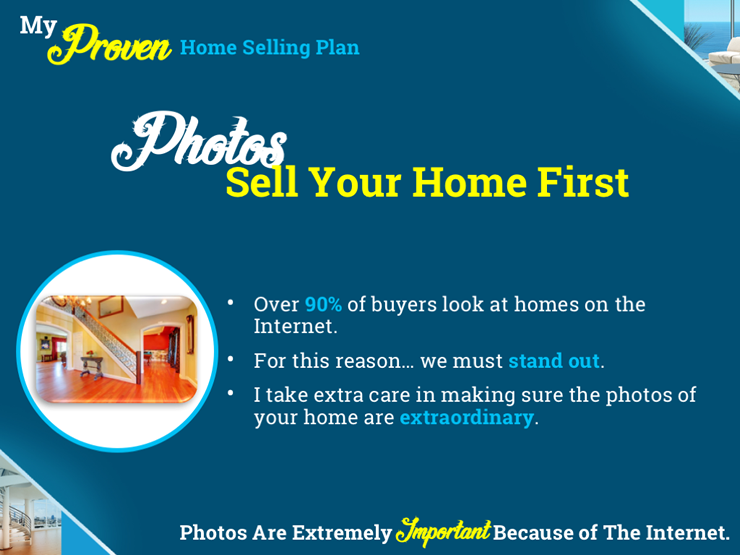 Presentation Marketing Plan Slide - Photos Sell The Home First