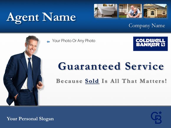 Cover slide of the Coldwell Banker listing presentation example company design template