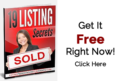 19 Listing Secrets PDF on how to write the perfect listing presentation for residential real estate sales.
