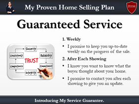 listing presentation checklist point #8: guaranteed service plan