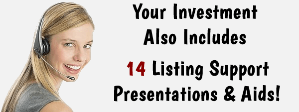 Included in your listing presentation package