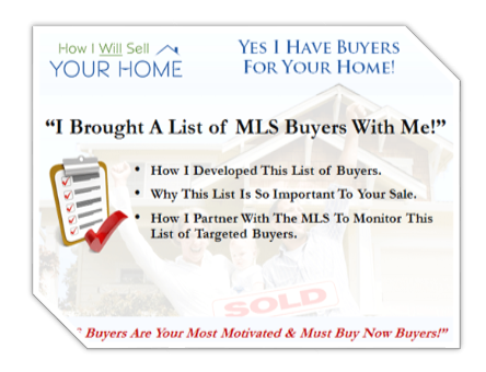 listing presentation slide discussing mls buyers