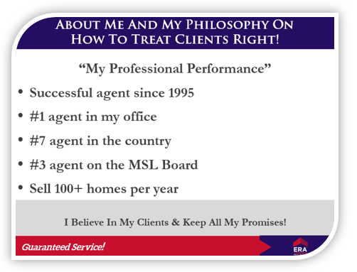 ERA listing presentation 'about me' page