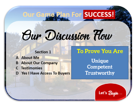 listing presentation purpose is to prove you are unique, competent and trustworthy