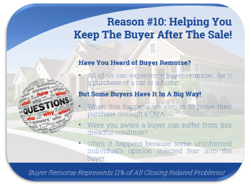Reason 10: helping you keep the buyer after the sale