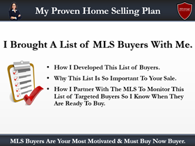 listing presentation checklist point 4: the home selling plan