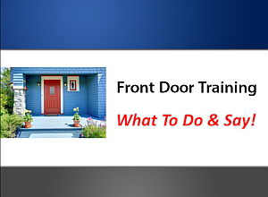What to say at the front door on a listing presentation