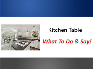 What to say when in the kitchen on a listing presentation