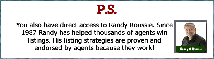 listing presentation advice, tips, scripts and strategies provided to you by the #1 listing coach in North America Randy Roussie
